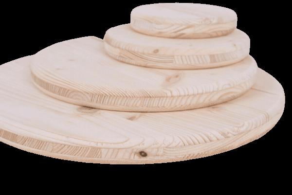 Holzscheibe Fasstischplatte 3-Schichtleimfichtenholz hinten