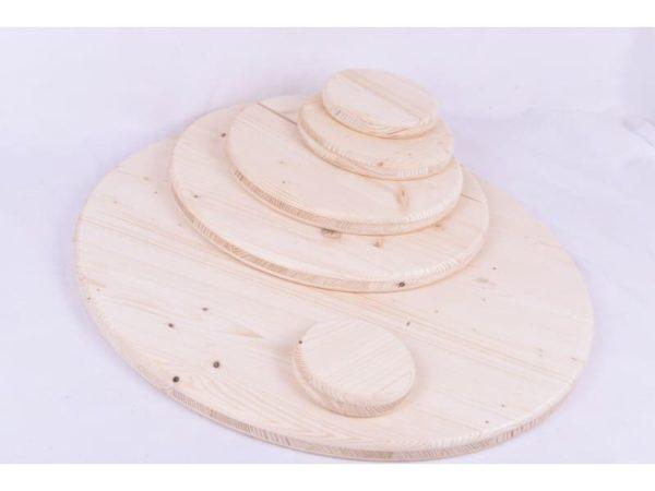 Holzscheibe Rund Holz Dreischicht Fichte Faßtisch 27mm 10-1000mm Tischplatte