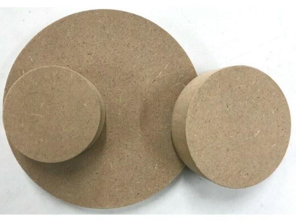 MDF Runde Holzscheibe Rund Holz Scheiben Kreis Tischplatte Basteln Ø70mm-Ø1000mm
