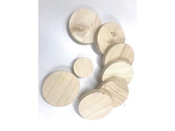 Runde Holzscheibe Rund Holz Fichte Leimholz Platte 18mm 80-590mm Tischplatte
