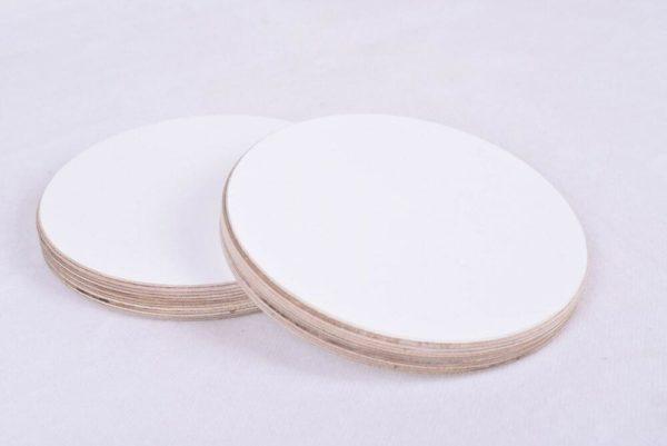 18mm Runde Holzscheibe Rund Kreis WEIß weiss Scheibe Multiplex Tischplatte