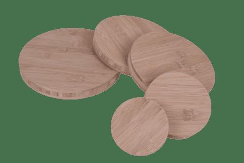 Runde Holzscheibe Rund Holz BAMBUS Leimholz Platte mundor tischplatten
