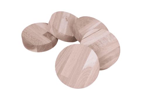 Runde Holzscheibe Rund Holz EICHE Leimholz